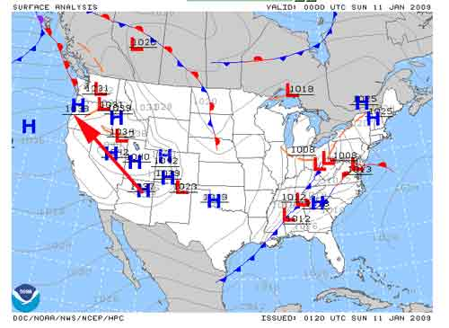 Resources For The Resourceful Understanding Warm And Cold Fronts - Us weather map fronts