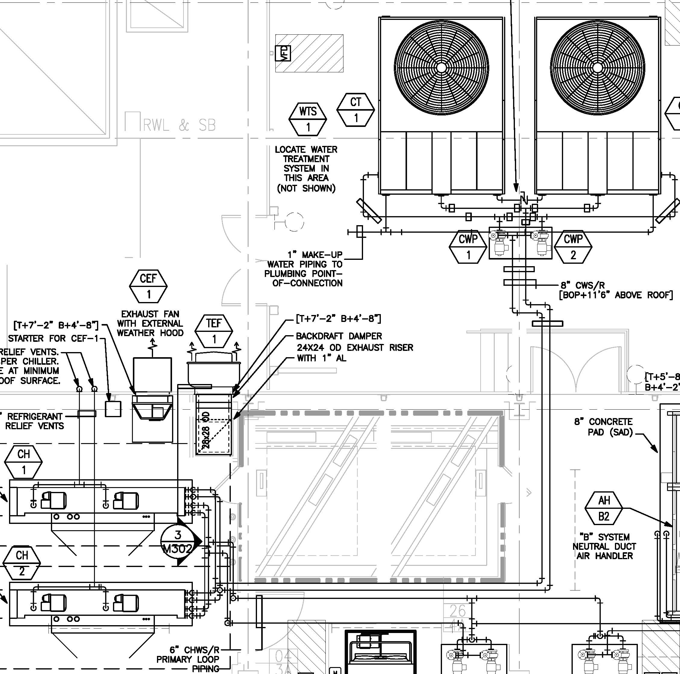 Chilled Water Piping Diagram on primary secondary chilled water system with buffer tank