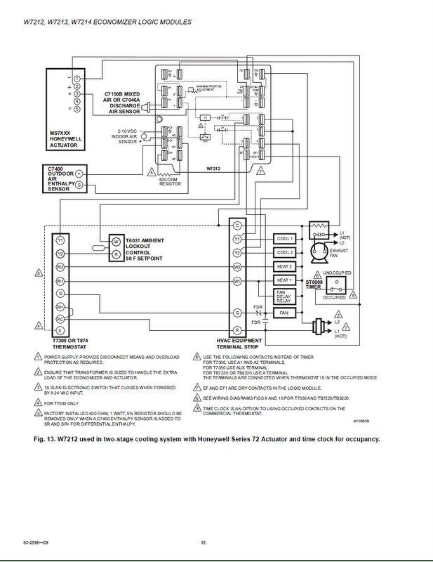 honeywell jade economizer wiring diagram free download