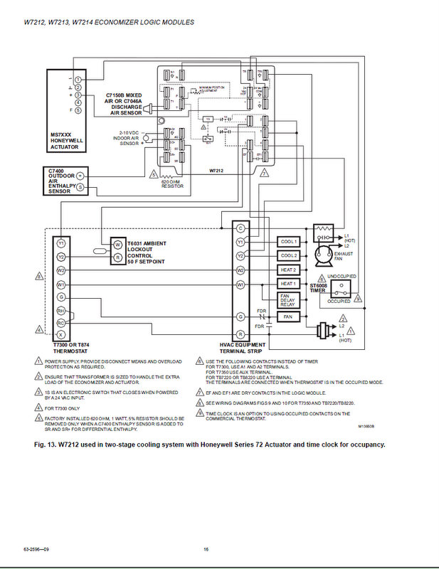 working with the honeywell w7212 economizer controller how i came rh av8rdas wordpress com Trane Thermostat Wiring Diagram RTH3100C Wiring Diagram For