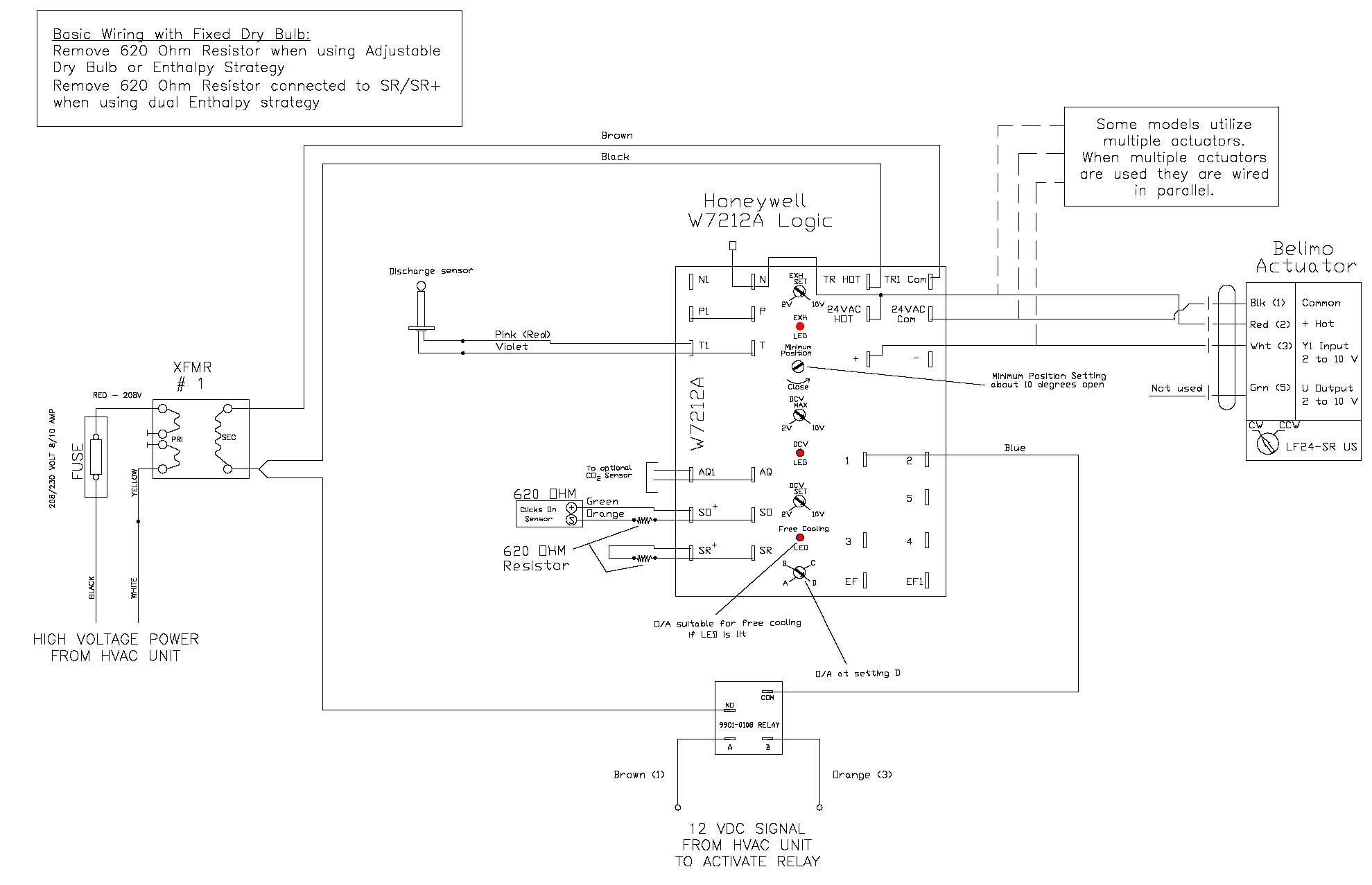 working with the honeywell w7212 economizer controller how i came rh av8rdas wordpress com 5 Wire Oxygen Sensor Diagram Garage Door Sensor Circuit Diagram