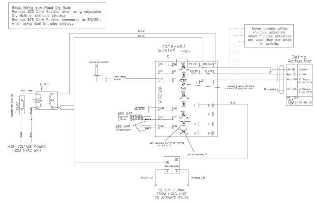 honeywell w7459 economizer wiring diagram honeywell