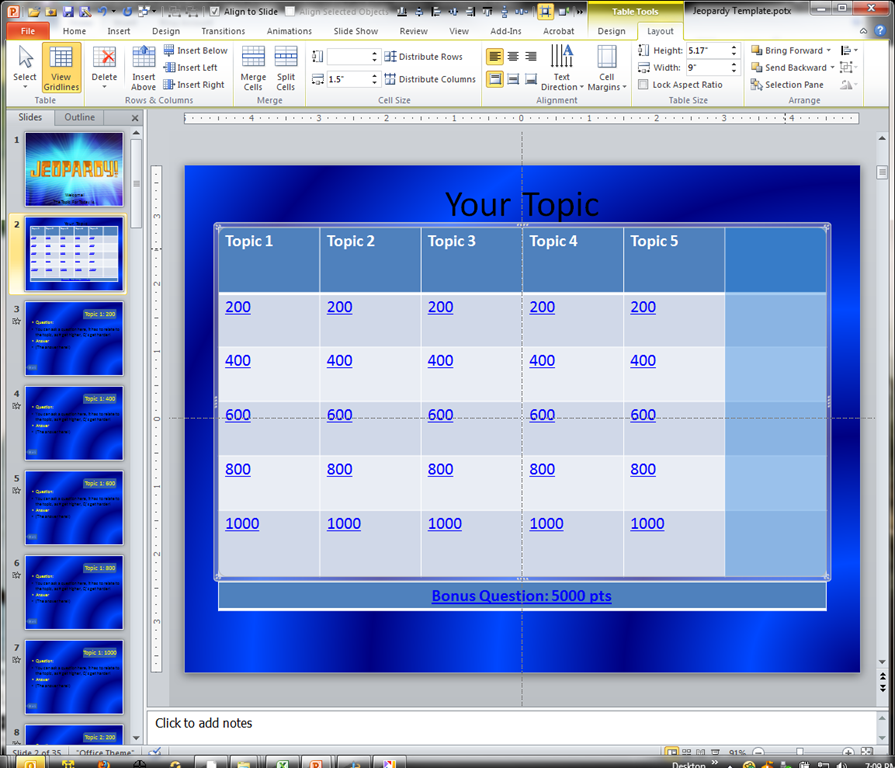 Making a jeopardy game board in powerpoint to supplement your jeopardy templatepotx microsoft powerpoint 12182011 70951 pm toneelgroepblik Image collections
