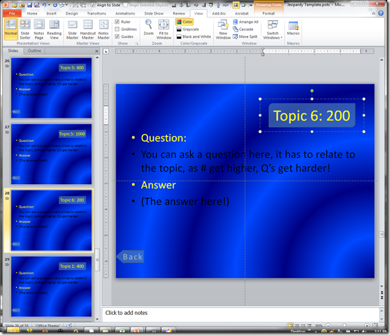 Microsoft powerpoint 2007 jeopardy template download for Jeopardy template powerpoint 2007