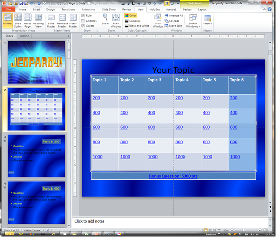 Jeopardy Template.potx - Microsoft PowerPoint 12182011 71549 PM