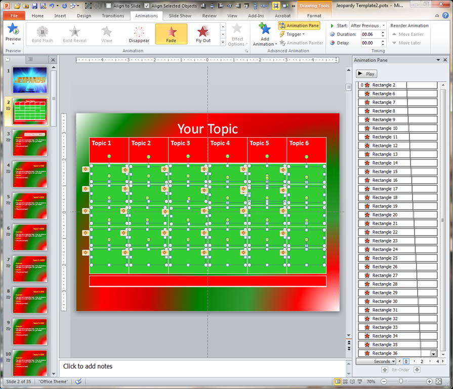 Jeopardy wav file ventinove web for Microsoft powerpoint jeopardy game template