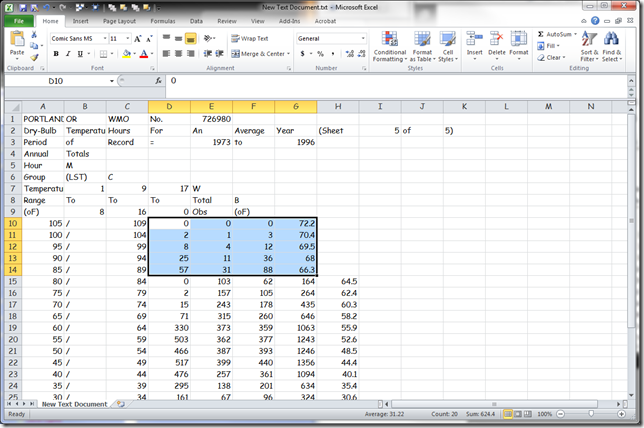 Microsoft Excel - New Text Document.txt 3202012 25925 PM
