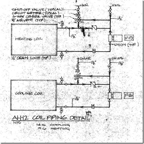 trane water cooled chiller piping diagrams