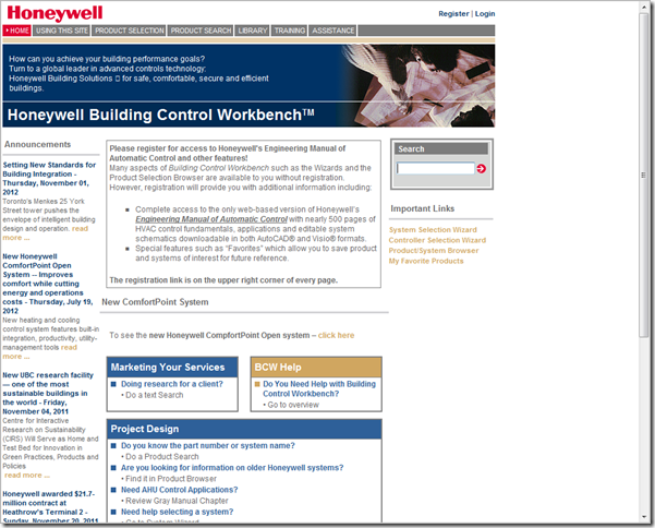Honeywell Gray Manual Web Site