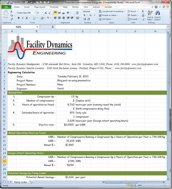 Microsoft Excel - Pneumatic Leak Compressor Energy.xlsx  [Compatibility Mode] 2122013 111555 AM