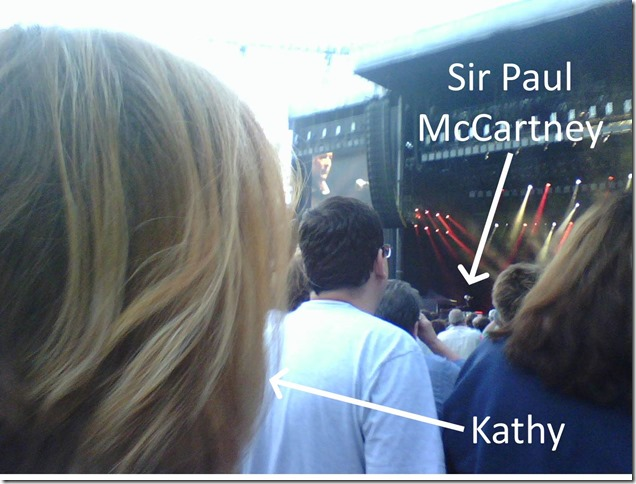 Kathy with Sir Paul McCartney