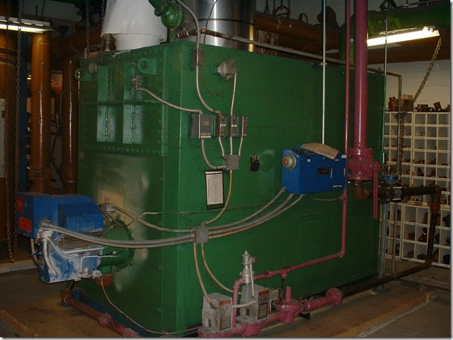 South tower hot water boiler