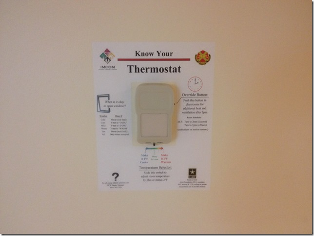 Thermostat Label